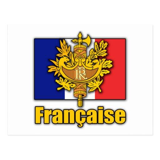 Escudo de armas de Francia Tarjeta Postal