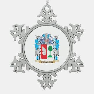 Escudo de armas de Frandsen - escudo de la familia Adorno De Peltre En Forma De Copo De Nieve
