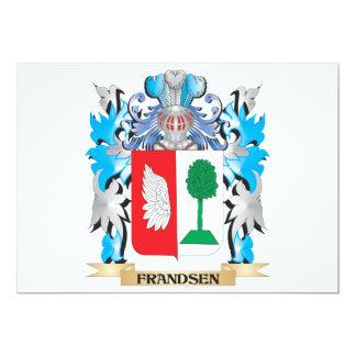 """Escudo de armas de Frandsen - escudo de la familia Invitación 5"""" X 7"""""""