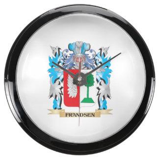 Escudo de armas de Frandsen - escudo de la familia Reloj Acuario