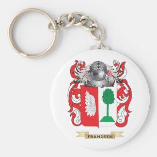 Escudo de armas de Frandsen Llavero Redondo Tipo Pin
