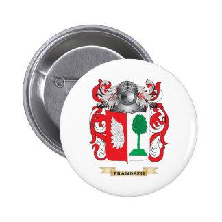 Escudo de armas de Frandsen Pin Redondo 5 Cm