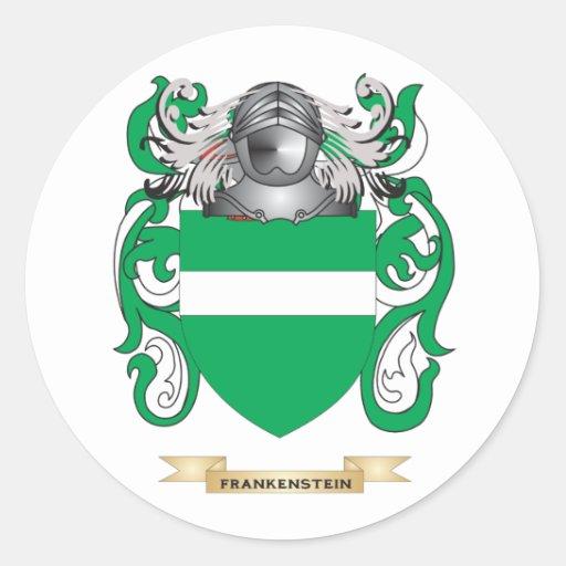 Escudo de armas de Frankenstein Etiquetas Redondas