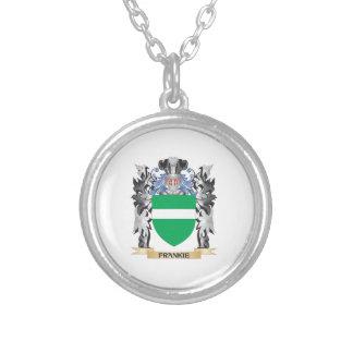 Escudo de armas de Frankie - escudo de la familia Colgante Redondo