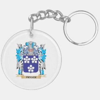 Escudo de armas de Fraser - escudo de la familia Llavero Redondo Acrílico A Doble Cara