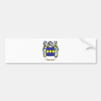 Escudo de armas de Freeman Pegatina De Parachoque
