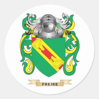 Escudo de armas de Freire Pegatina Redonda