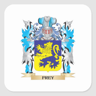 Escudo de armas de Frey - escudo de la familia Pegatina Cuadrada