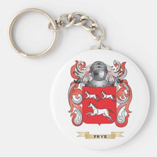 Escudo de armas de Frye Llavero Redondo Tipo Pin