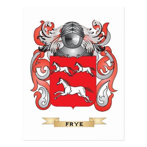 Escudo de armas de Frye Tarjetas Postales