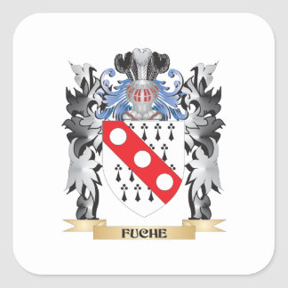 Escudo de armas de Fuche - escudo de la familia Pegatina Cuadrada