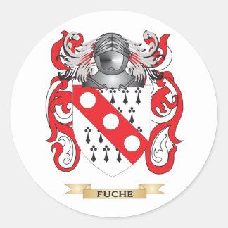 Escudo de armas de Fuche Pegatina Redonda