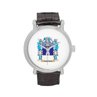 Escudo de armas de Fuertes - escudo de la familia Reloj