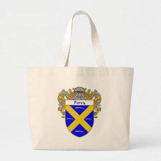 Escudo de armas de Furey (cubierto) Bolsa Tela Grande