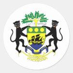 Escudo de armas de Gabón Etiquetas Redondas