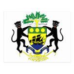 Escudo de armas de Gabón Postales