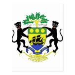 Escudo de armas de Gabón Tarjetas Postales