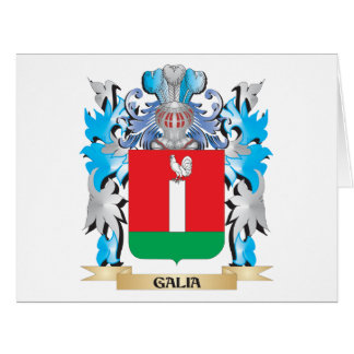 Escudo de armas de Galia - escudo de la familia Felicitacion