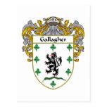 Escudo de armas de Gallagher (cubierto) Postal