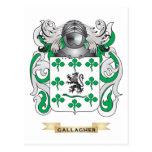Escudo de armas de Gallagher (escudo de la familia Tarjetas Postales