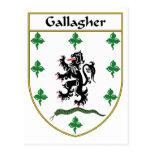 Escudo de armas de Gallagher/escudo de la familia Postal