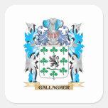 Escudo de armas de Gallagher - escudo de la Calcomanía Cuadradas Personalizadas