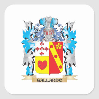 Escudo de armas de Gallardo - escudo de la familia Colcomania Cuadrada