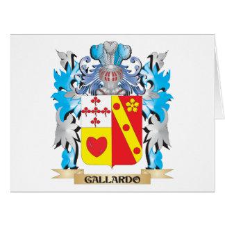 Escudo de armas de Gallardo - escudo de la familia Felicitación