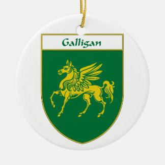 Escudo de armas de Galligan Adorno Redondo De Cerámica