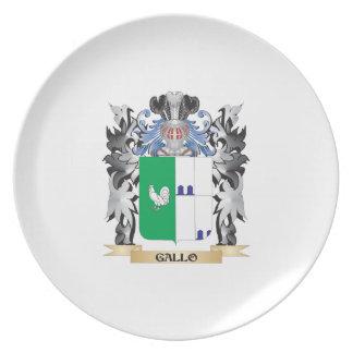 Escudo de armas de Gallo - escudo de la familia Plato De Comida