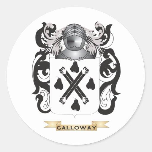 Escudo de armas de Galloway (escudo de la familia) Pegatina Redonda
