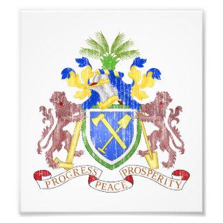 Escudo de armas de Gambia Fotos