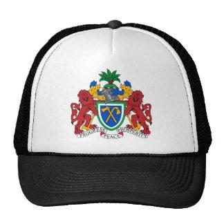 Escudo de armas de Gambia Gorros Bordados