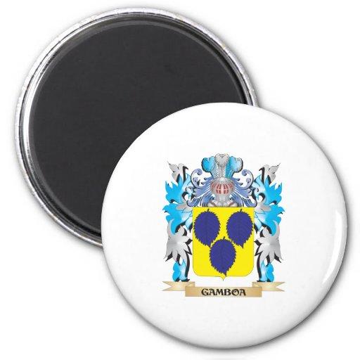 Escudo de armas de Gamboa - escudo de la familia Iman Para Frigorífico