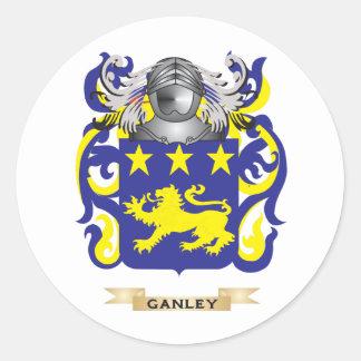 Escudo de armas de Ganley (escudo de la familia) Pegatina Redonda