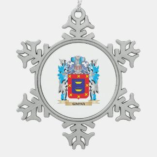 Escudo de armas de Gaona - escudo de la familia Adorno De Peltre En Forma De Copo De Nieve
