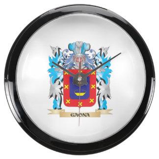 Escudo de armas de Gaona - escudo de la familia Reloj Pecera