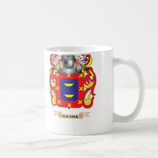 Escudo de armas de Gaona (escudo de la familia) Tazas De Café