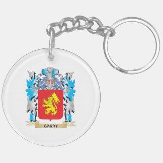 Escudo de armas de Garay - escudo de la familia Llavero Redondo Acrílico A Doble Cara