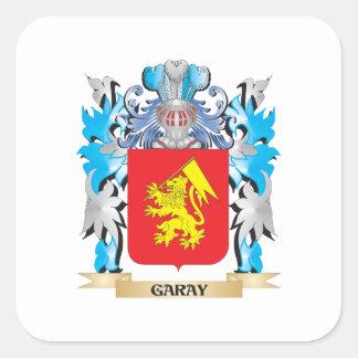 Escudo de armas de Garay - escudo de la familia Pegatina Cuadrada