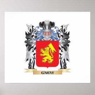 Escudo de armas de Garay - escudo de la familia Póster
