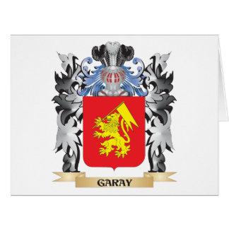 Escudo de armas de Garay - escudo de la familia Tarjeta De Felicitación Grande