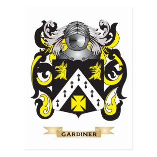 Escudo de armas de Gardiner (escudo de la familia) Tarjetas Postales