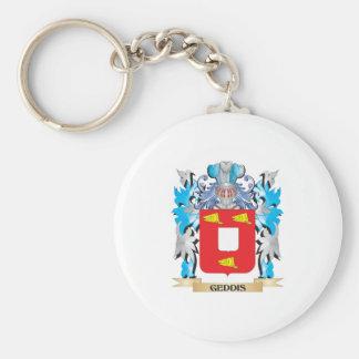 Escudo de armas de Geddis - escudo de la familia Llavero Personalizado