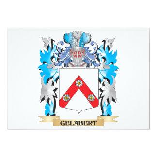 Escudo de armas de Gelabert - escudo de la familia Invitación 12,7 X 17,8 Cm