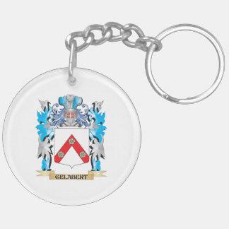 Escudo de armas de Gelabert - escudo de la familia Llavero Redondo Acrílico A Doble Cara