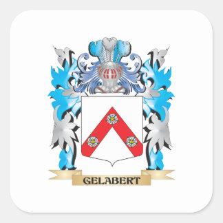 Escudo de armas de Gelabert - escudo de la familia Pegatina Cuadrada