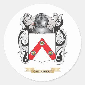Escudo de armas de Gelabert (escudo de la familia) Pegatina Redonda