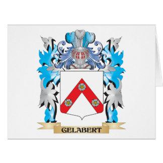 Escudo de armas de Gelabert - escudo de la familia Tarjeta De Felicitación Grande