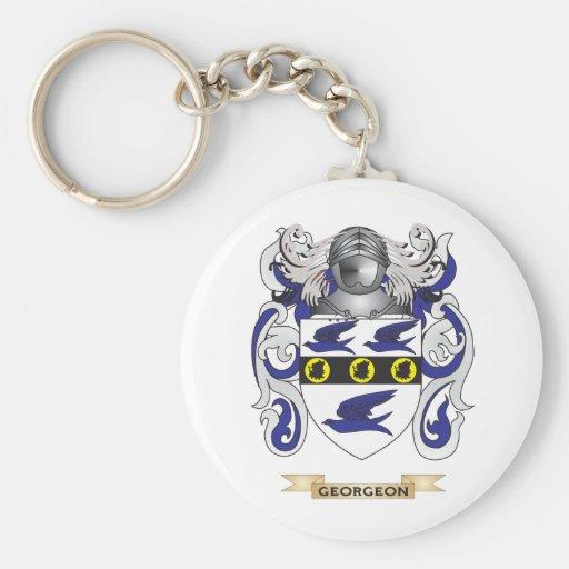 Escudo de armas de Georgeon (escudo de la familia) Llavero Redondo Tipo Pin